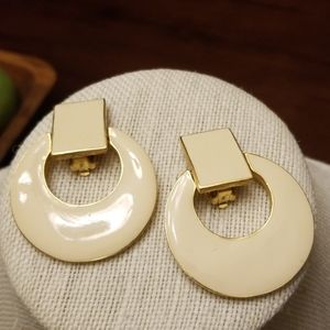 Large Vintage Clip Earrings